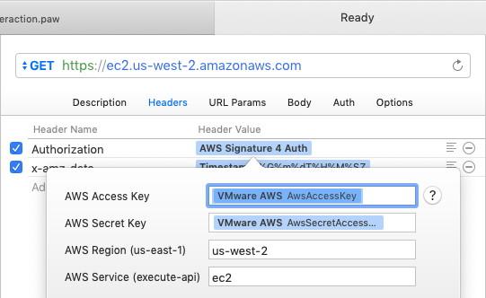 AWS Signature 4 Auth extension configuration