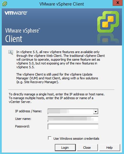 vmware vsphere client for windows