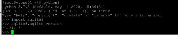 Python 3.7.x import SQLite3