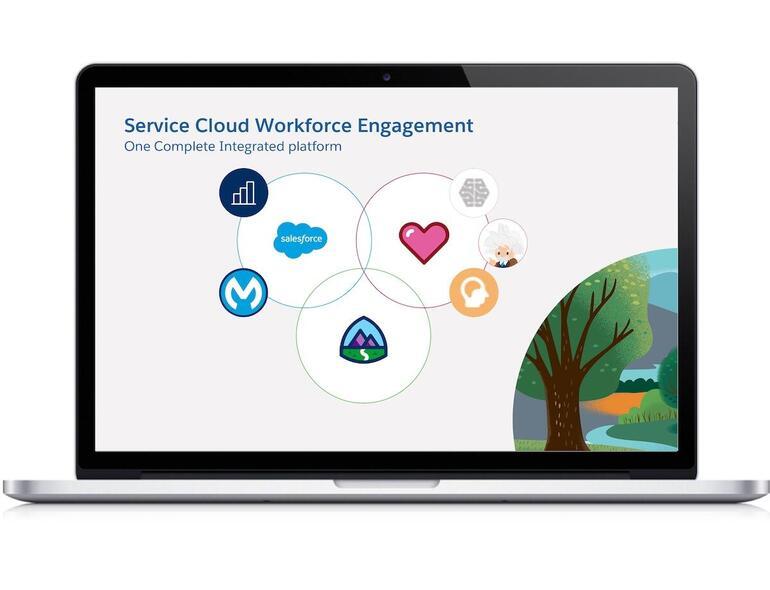 Salesforce Service Cloud Workforce Engagement integrated platform